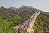 Hoards of people from all over visit Badaling Wall on China's Labor Day Weekend