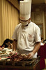 Carving a Peking Duck at our table