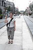The strange re-built historic Qianmen street in Central Beijing