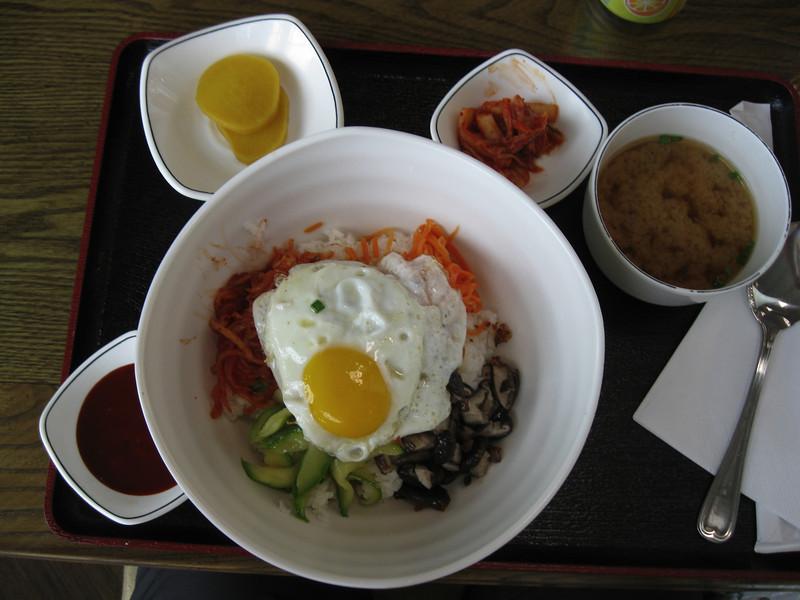 Lunch at the Beijing airport's Korean restaurant