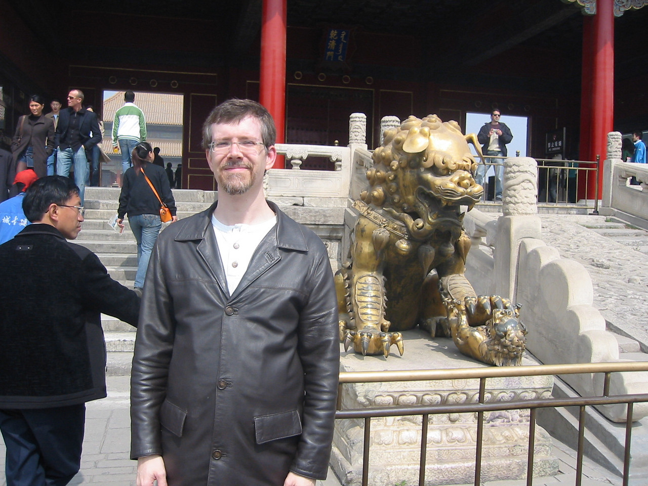 Me in front of the Gate of Heavenly Purity