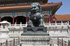 Male Lion guarding The Gate of Supreme Harmony in the Forbidden City