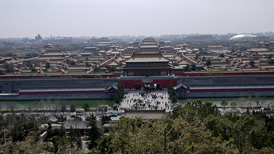 The Forbidden City in Beijing, China from Jingshan Park