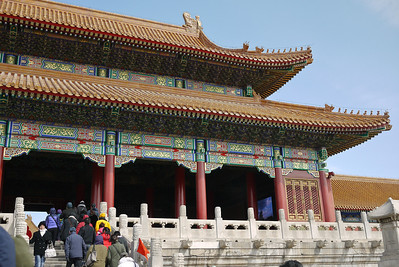 Decorative and ornate buildings at the Forbidden City in Beijing, China.