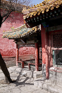 A quiet corner at the Forbidden City in Beijing, China.