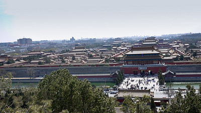 Views from Jingshan Park at the Forbidden City in Beijing, China.