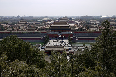 The Forbidden City from Jingshan Park in Beijing, China.