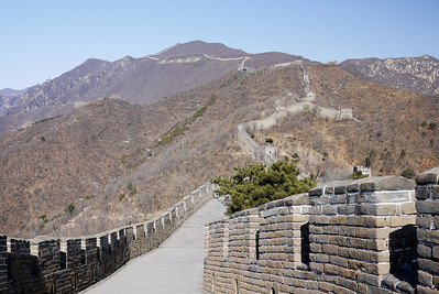 Rolling hills at Great Wall of China