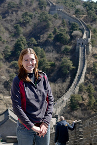 Enjoying the budding greenery at the Great Wall of China