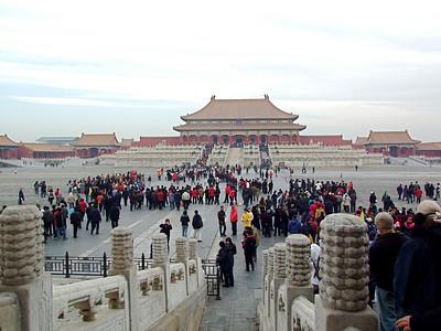 la place de l'Harmonie Suprême, la plus grande à l'intérieur de la Cité