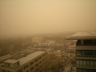 tempête de sable en mars