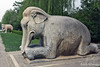 Elephant kneeling~one of the animals guarding the Ming Tombs