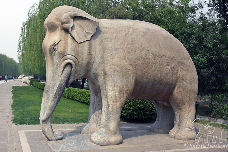 Elephant Statue guarding the Sacred Way