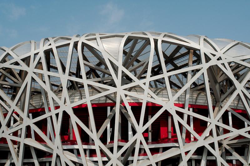 Detail of the National Stadium (the Bird's Nest)