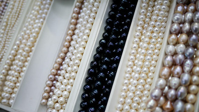 Pearls from the Pearl Market in Beijing, China.