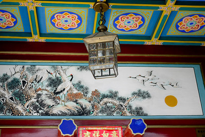 Elaborate paintings and art in the doorways around Beijing, China.