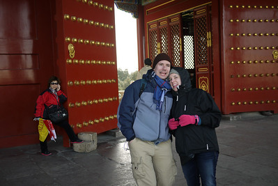 Niki and Pete at the Temple of Heaven in Beijing, China.