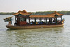 Dragon boat used to deliver tourist to various spots on lake