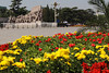 Sculpture and Flowers at Tian'anmen Square ~ Flowers are displayed during special events...this was Labor Day Holiday