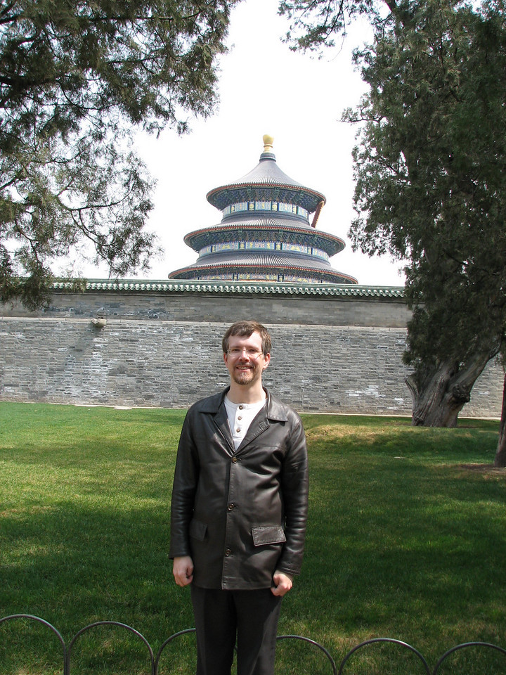 Me in front of the Temple of Prayer for Good Harvests.