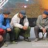 3 pedicab drivers resting near Xizhimen Subway Station Beijing