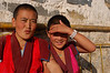 China, Gansu, Xiahe: Friendly nuns at the small nunnery