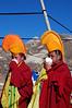 China, Sichuan, Litang:  Call to prayer.