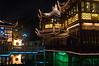China, Shanghai: Old Town at night.
