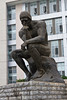 Rodin's The Thinker statue on the campus of the Southwest University of Economics and Finance in Chengdu, Sechuan, China.