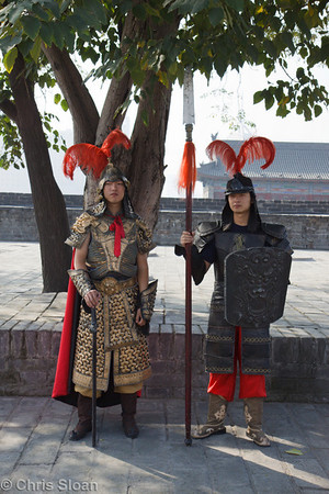 Warriors at Xian City Wall at Xian, China (10-22-2009)-6