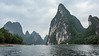 Limestone karst mountains along the Li River, Xingping, Guangxi, China