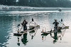 Pair of cormorant fishermen on the Li River, Xingping, Guilin, China