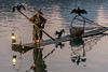 Fishing with cormorants at dawn, Li River, Xingping, Guilin, China