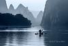 Fishing on the Li River, early morning, Xingping, Guilin, China