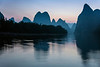 Pre-dawn on the Li River