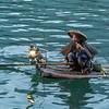 Cormorant fisherman with a pipe, Li River, Xingping, Guiling, China
