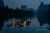 Cormorant fishermen pre-dawn