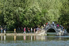 Moon bridge over Nanhu (South) Lake, Hongcun Ancient Town, Lixian, Anhui, China