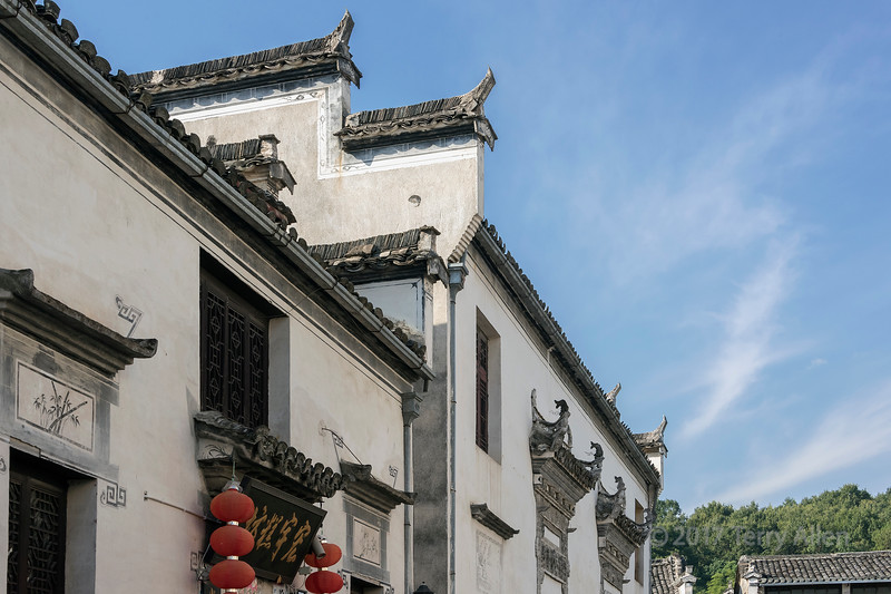Ming dynasty house with horsehead walls, Hongcun Ancient Town, Lixian, Anhui, China