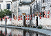 Old houses on Half Moon Lake, Hongcun Ancient Town, Lixian, Anhui, China