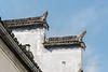 Horsehead walls (fire walls), Hongcun Ancient City, Lixian, Anhui, China