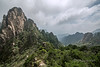 Near and distant peaks, Huangshan National Park, Anhui Province, China