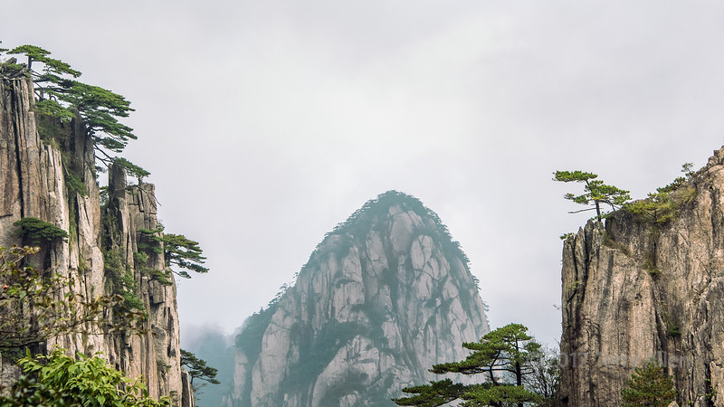 Granite dome and cliffs, Huangshan National Park, Anhui Province, China