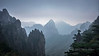Huangshan National Park  in the mists and airpollution, Anhui, China