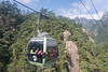 Chinese tourists heading up the Yungu cable car, Huangshan Mountains, China