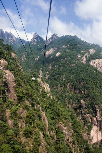 Yungu cable car up to Huangshan md