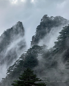 Misty cliffs of Huangshan, Anhui, China