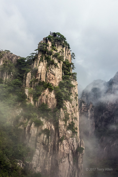 Misty mountains, Huangshan National Park, Anhui Province, China