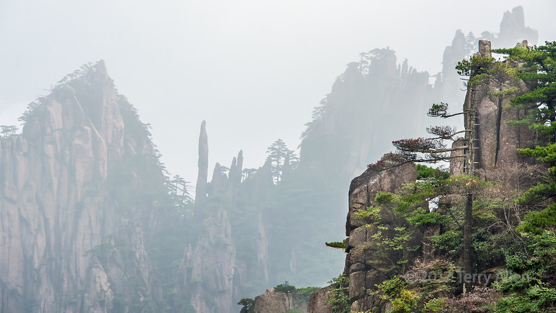 Cliffs, pinnacles and mists, Huangshan National Park, Anhui, China
