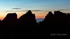 Sunrise and Huangshan pine-topped cliffs, Huangshan National Park, Anhui, China